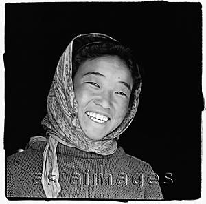 Asia Images Group - India, Ladakh, Portrait of young girl smiling.